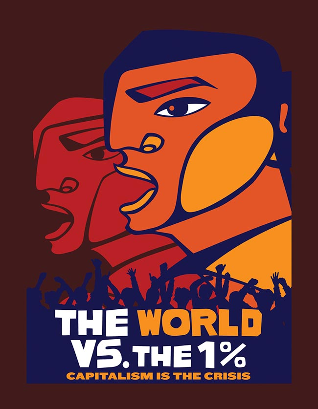 Image: The World vs The 1% - Capitalism Is The Crisis